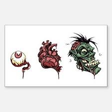 Eye Heart Zombies Decal