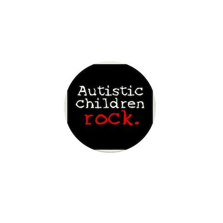 Autistic Children Rock Mini Button (10 pack)