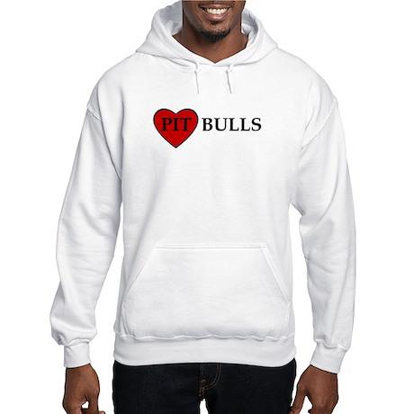 LOVE PIT BULLS Hooded Sweatshirt