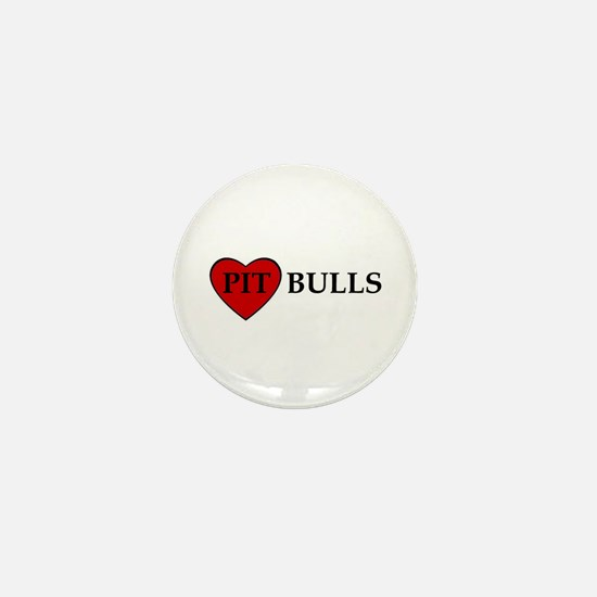 LOVE PIT BULLS Mini Button