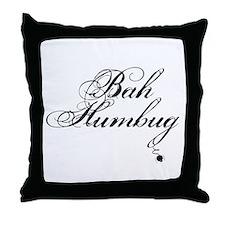 Cute Bah humbug Throw Pillow