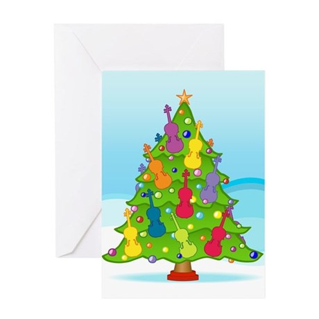 Violin Christmas Greeting Card