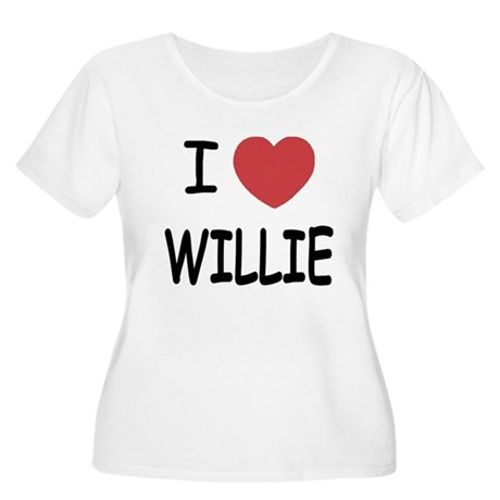 I heart Willie Women's Plus Size Scoop Neck T-Shir