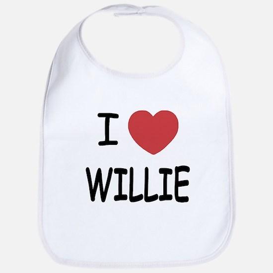 I heart Willie Bib