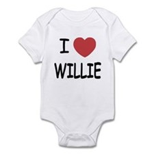 I heart Willie Infant Bodysuit