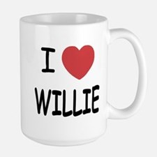 I heart Willie Large Mug