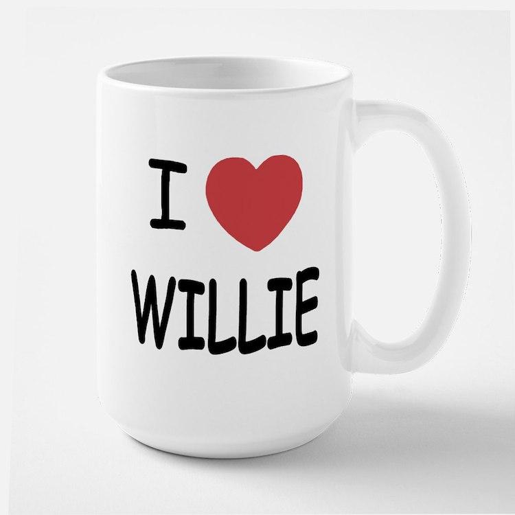 I heart Willie Large Mug