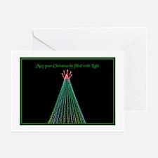 Green Christmas Light Greeting Cards (20 Pk)