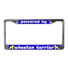 Powered by Wheaten Terrier License Plate Frame