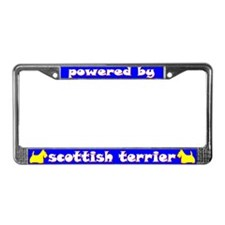 Powered by Scottish Terrier License Plate Frame