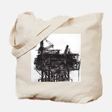 Vintage Oil Rig Tote Bag