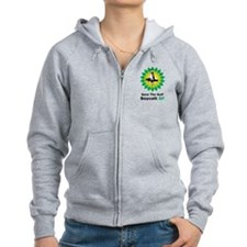 Save The Gulf Boycott BP Zip Hoody