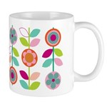 Mod/Retro Hot Colours Mug