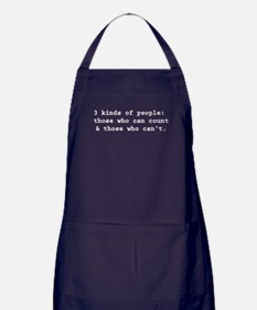3 Kinds Of People Apron (dark)