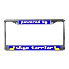 Powered by Skye Terrier License Plate Frame
