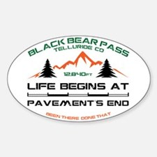 Black Bear Pass Sticker (Oval)