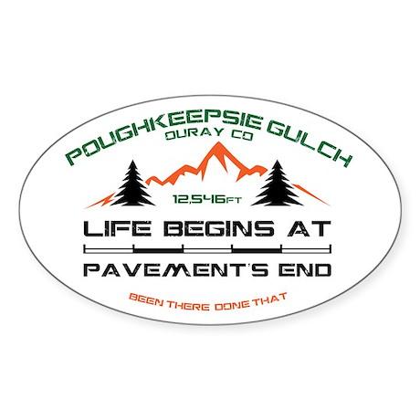 Poughkeepsie Gulch Sticker (Oval)