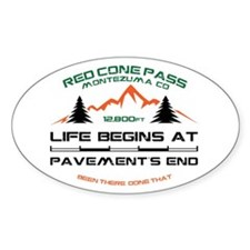 Red Cone Pass Decal