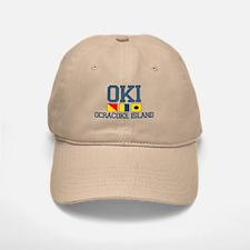 Ocracoke Island - Nautical Flags Design Baseball Baseball Cap