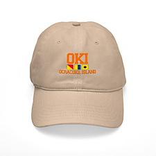 Ocracoke Island - Nautical Flags Design Baseball Cap