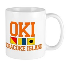 Ocracoke Island - Nautical Flags Design Mug