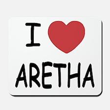 I heart Aretha Mousepad