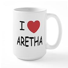 I heart Aretha Mug