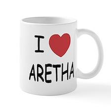 I heart Aretha Small Mugs