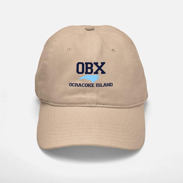 Ocracoke Island - Map Design Baseball Baseball Cap