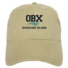 Ocracoke Island - Map Design Baseball Cap