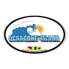 Ocracoke Island - Waves Design Decal