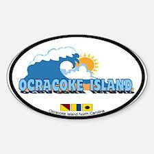 Ocracoke Island - Waves Design Decal