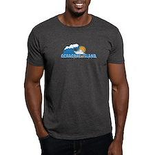 Ocracoke Island - Waves Design T-Shirt