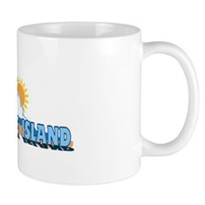 Ocracoke Island - Waves Design Mug