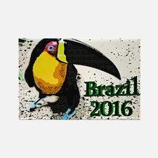 Brazil 2016 Rectangle Magnet