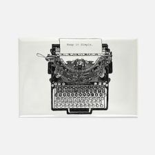Vintage Typewriter Rectangle Magnet