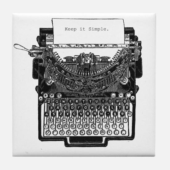 Vintage Typewriter Tile Coaster