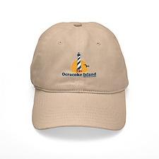 Ocracoke Island - Lighthouse Design Baseball Cap
