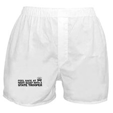 Funny State Trooper Boxer Shorts