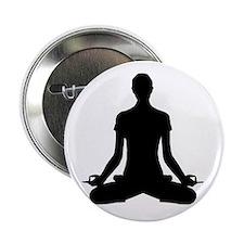 """modern Yoga pose black 2.25"""" Button"""