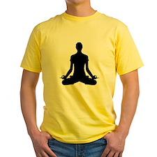 modern Yoga pose black T