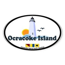 Ocracoke Island - Lighthouse Design Bumper Stickers