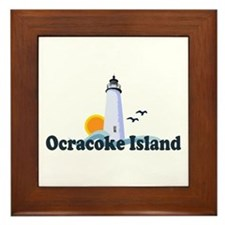 Ocracoke Island - Lighthouse Design Framed Tile