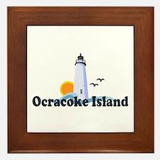 Ocracoke Island - Lighthouse Design Framed Tile