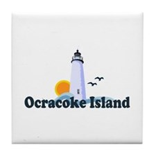 Ocracoke Island - Lighthouse Design Tile Coaster
