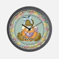 Gingerbread Cookie Doll Wall Clock
