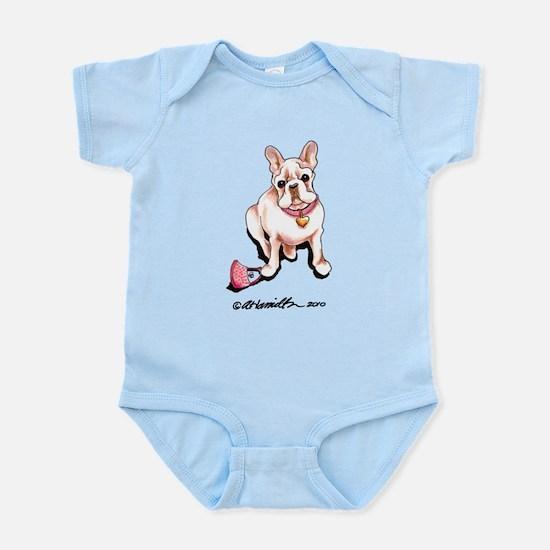 Cream French Bulldog Infant Bodysuit