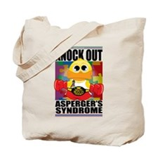 Knock Out Asperger's Syndrome Tote Bag