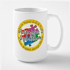 Asperger's Syndrome Puzzle Pi Large Mug