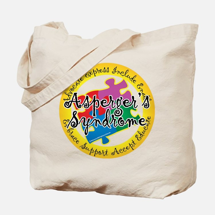 Asperger's Syndrome Puzzle Pi Tote Bag
